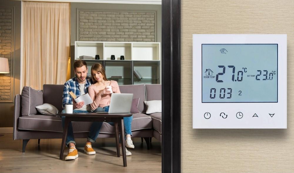 Digitális termosztát, fűtőfilmhez