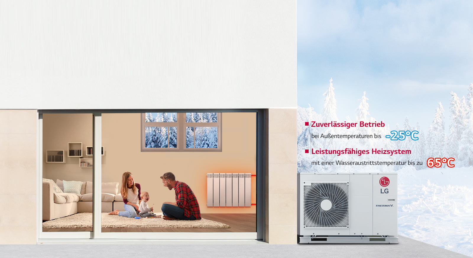 LG Wärmepumpe heizung Therma V monobloc